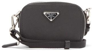 Prada Logo-plaque Saffiano-leather Cross-body Bag - Black
