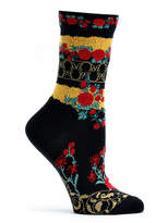 Ozone Black Floral Gates Sock