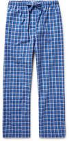 Derek Rose Ranga Checked Brushed-cotton Pyjama Trousers - Blue