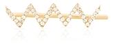 SMITH + MARA 14K Gold Pave Diamond Zig Zag Skimmer Earring