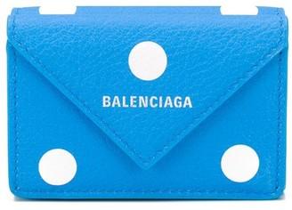 Balenciaga mini Paper spot-print wallet