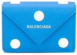 Balenciaga mini Papier spot-print wallet