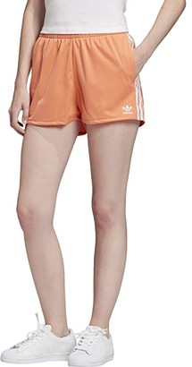 adidas 3-Stripes Shorts (Semi Coral/White) Women's Shorts