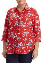 Lauren Ralph Lauren Plus Floral-Print Button-Down Shirt