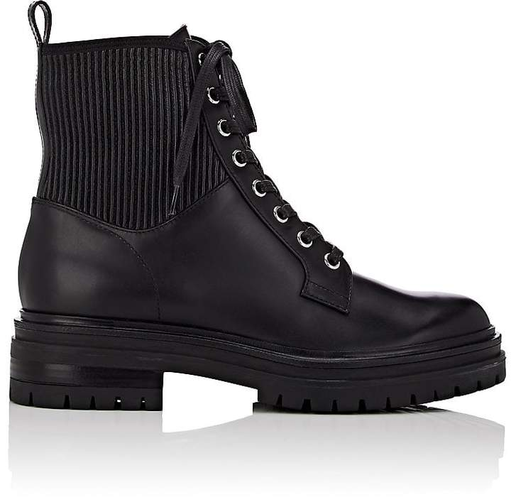 Gianvito Rossi Women's Martis Leather Combat Boots