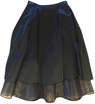 Space Style Concept Black Cotton Skirts