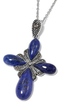 Shop Lc Stainless Steel Lapis Lazuli Pendant Necklace Size 20 Inch Ct 23 - Size 20''