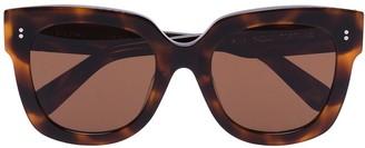 Chimi Square-Frame Tortoiseshell-Effect Sunglasses