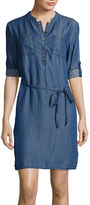 Liz Claiborne Long-Sleeve Denim Shirtdress