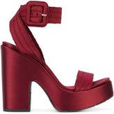 Pedro Garcia Thora sandals - women - Satin/Leather/rubber - 36