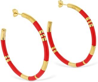 Aurélie Bidermann Large Positano Hoop Earrings