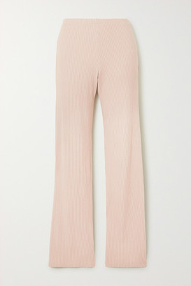 Leset Alison Ribbed Stretch-jersey Pants - Pink