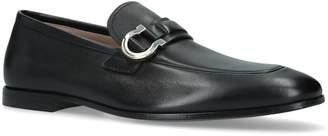 Salvatore Ferragamo Leather Gancho Loafers
