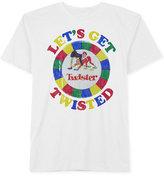 Hybrid Men's Twister Graphic-Print Cotton T-Shirt