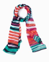 Charming charlie Ombre Stripes Oblong Scarf