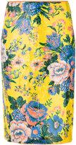 Diane von Furstenberg floral print pencil skirt - women - Polyester/Spandex/Elastane - 6