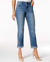 Style&Co. Style & Co Petite Embroidered Camino Wash Boyfriend Jeans, Only at Macy's