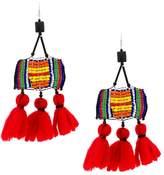Ports 1961 beaded wool tassel earrings
