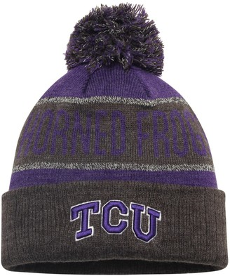 Top of the World Unbranded Youth Purple TCU Horned Frogs Below Zero Cuffed Knit Hat With Pom