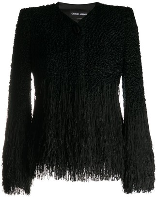 Giorgio Armani Collarless Fringed Jacket