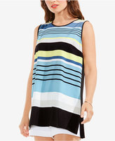 Vince Camuto Printed-Front High-Low Top