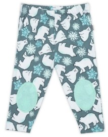 PureHeart Organics Baby Boys and Girls Snow Bears Patch Trouser