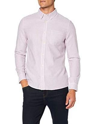 Burton Menswear London Men's Long Sleeve Oxford Stripe Shirt Casual,X (Size:)