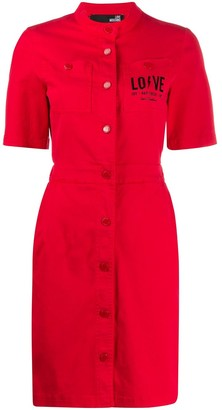 Love Moschino Chest Logo Shirt Dress