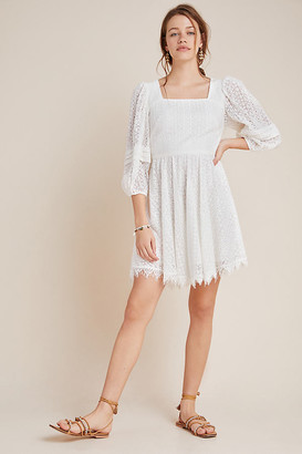 Shoshanna Vega Lace Mini Dress By in White Size 8