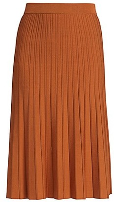 Jonathan Simkhai Ira Compact Knit Pleated Skirt