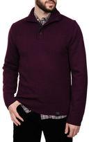 Victorinox Ribbed Collar Sweater with Quarter Zip