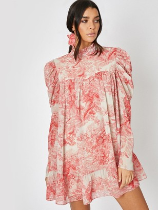 In The Style X Lorna Luxe 'Cora Pearl Impossibly Perfect' HighNeck Swing Dress - Pink