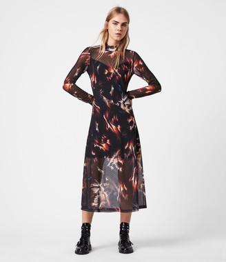 AllSaints Hanna Flames Dress
