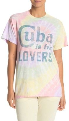 The Laundry Room Cuba Lovers Tie Dye Tour T-Shirt