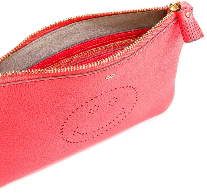 Anya Hindmarch Smiley zipped clutch