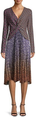 DELFI Collective Mixed-Print Twisted-Front Dress