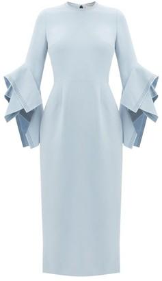 Roksanda Ronda Fluted-cuff Crepe Dress - Light Blue