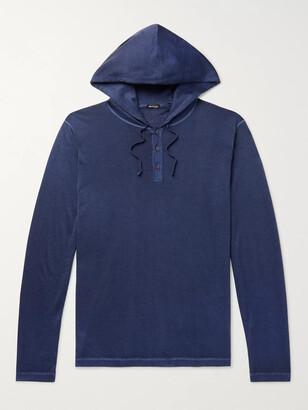 Kiton Cashmere And Silk-Blend Half-Placket Hoodie