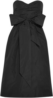 ALEXACHUNG Strapless Bow-embellished Taffeta Dress