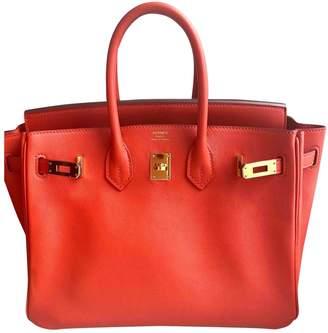 Hermes Birkin 25 Orange Leather Handbags
