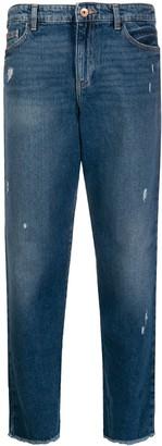 Emporio Armani Distressed Straight Leg Jeans