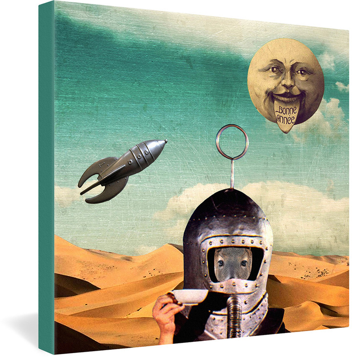 Natt A Trip To The Moon Tea Gallery Wrapped Canvas