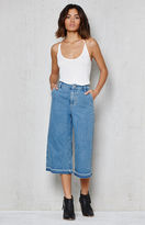 PacSun Seattle Blue Frayed Denim Culottes