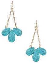 Anna & Ava Monica Turquoise Cluster Drop Statement Earrings
