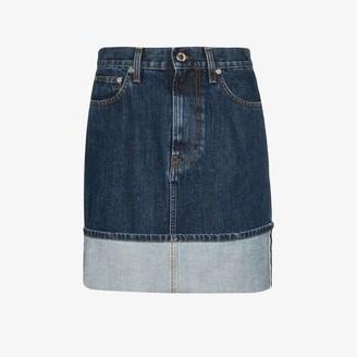 Helmut Lang Femme stonewash mini denim skirt