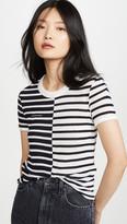 Alexander Wang Mix Print Stripe Boy Tee