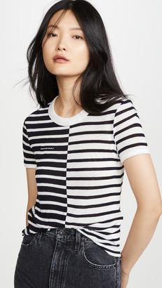 Alexander Wang Mix Print Stripe Boy Tee