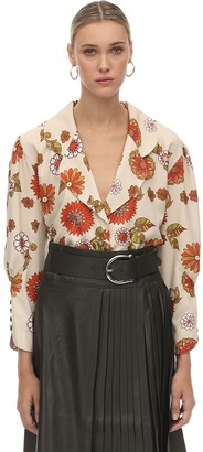 Dodo Bar Or Printed Crepe De Chine Blouse