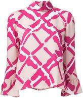 Derek Lam printed frill sleeve blouse