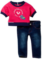 True Religion Active Dolman Stella Top & Jean Set (Baby Girls)